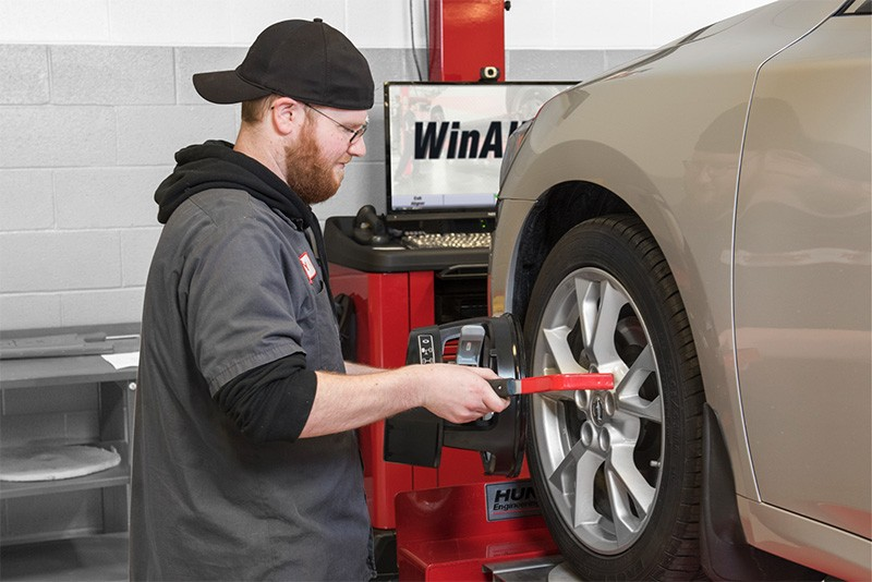 hunter wheel alignment by mechanic