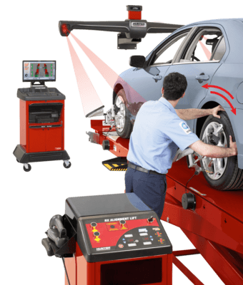 technician uses WinAlign system
