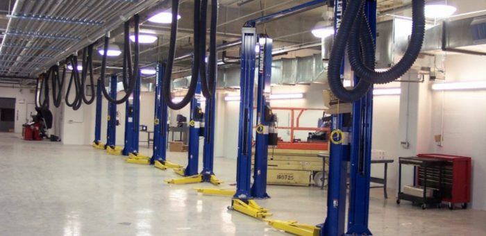 new automotive shop equipment installed by Reliable Equipment and Lift
