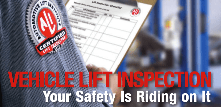 vehicle lift inspections by Reliable Equipment & Lift