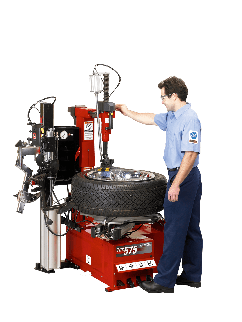 changing vehicle tires with TCX57